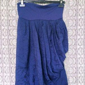 SUSANNA MONACO Strapless Silk Crinkle Bubble Dress